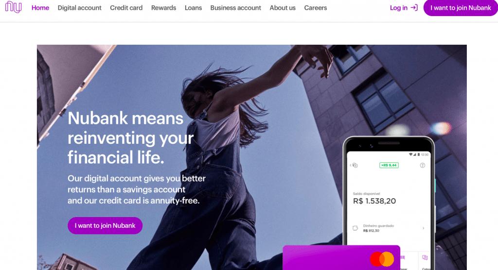 Nubank homepage