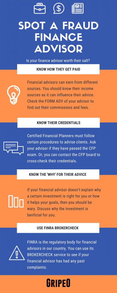 How To Spot A Fraud Finance Advisor (Infographic) Like George Marshall Warner