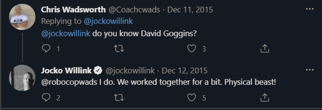 Jocko worked with Goggins