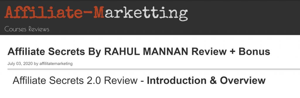 Rahul Mannan Fake Reviews
