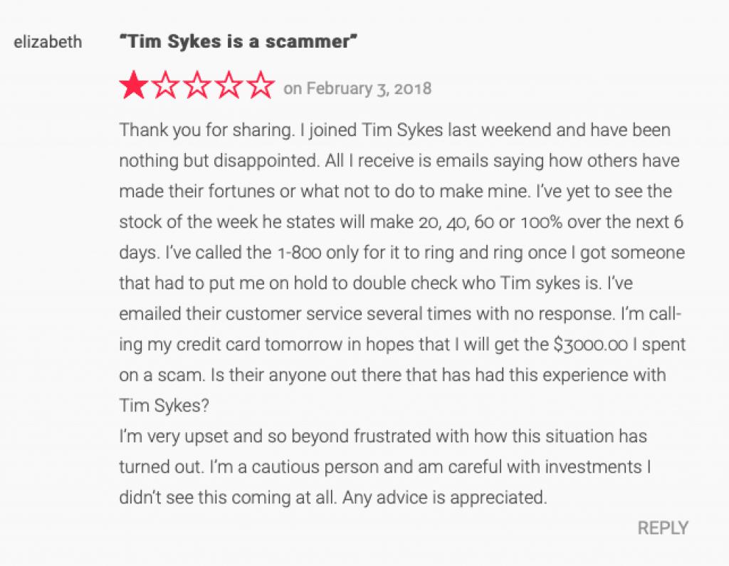 Tim Sykes complaint 1