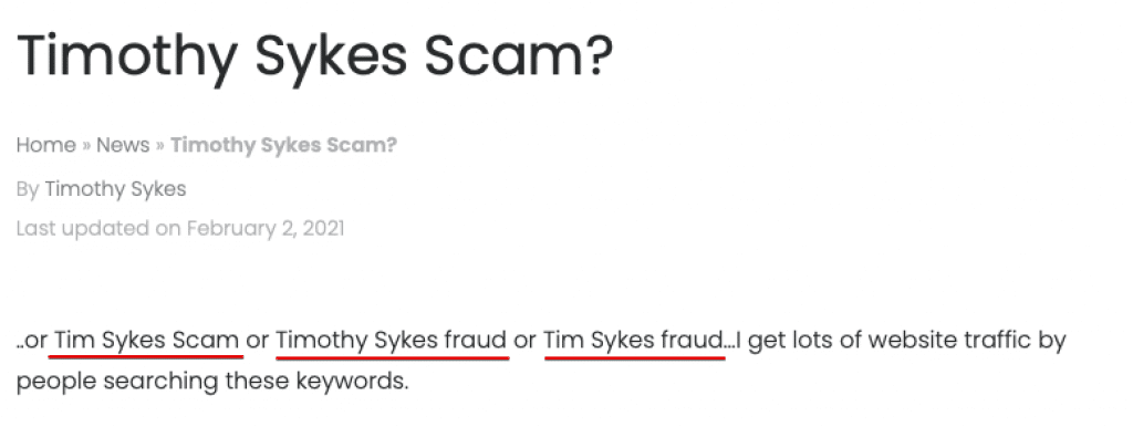 Tim Sykes scam article