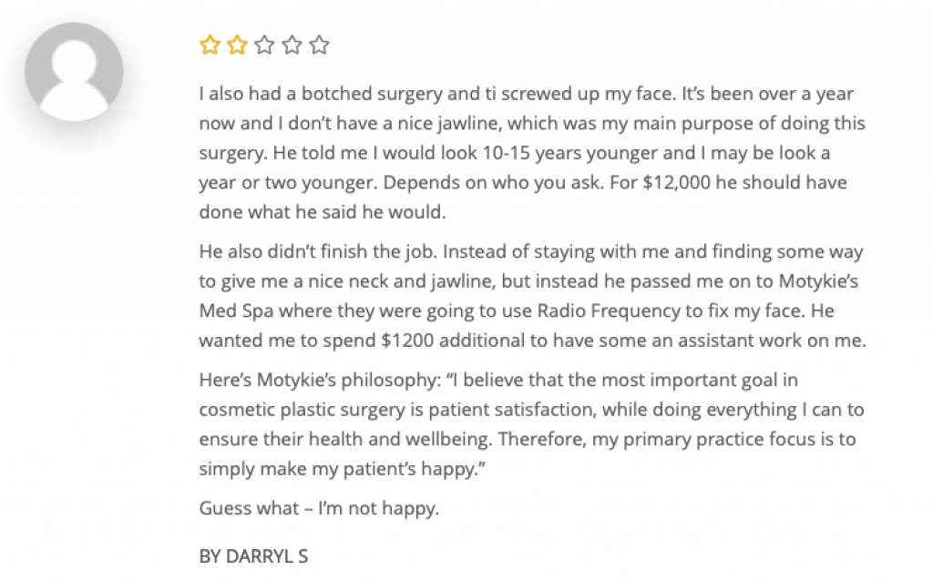 dr motykie reviews