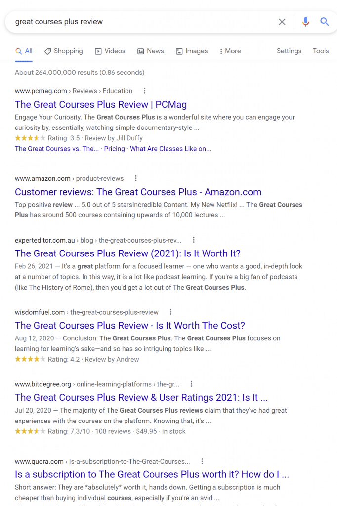 The Great Courses Plus Review & Complaints 2021