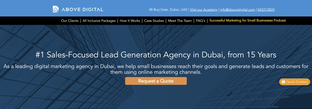 Above Digital Lead Generation Agency Dubai