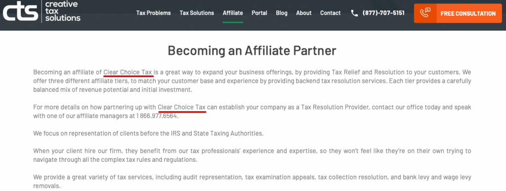 creative tax solutions scam
