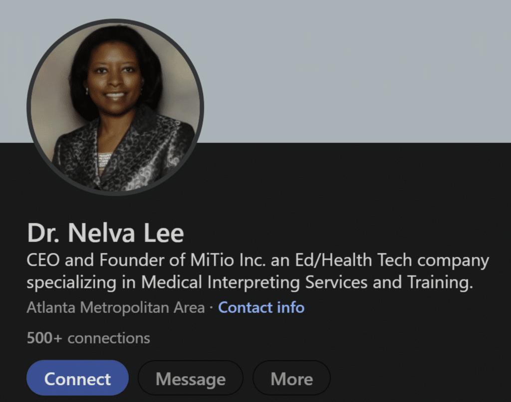 Dr. Nelva Lee MiTio