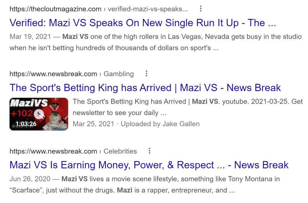 Mazi VS scam