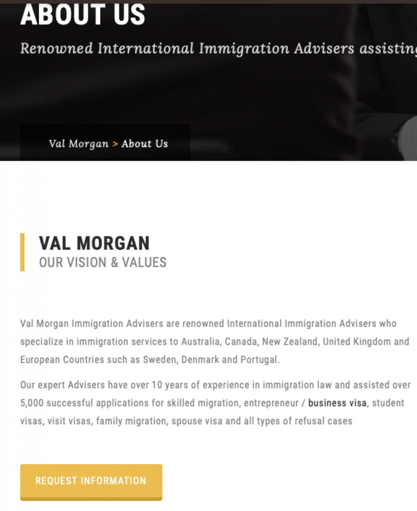 Val Morgan Immigration hides