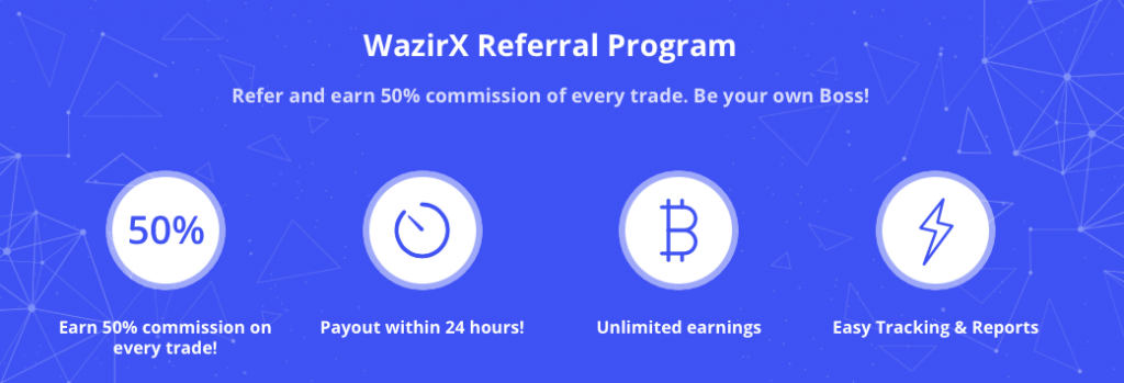 WazirX refer and earn