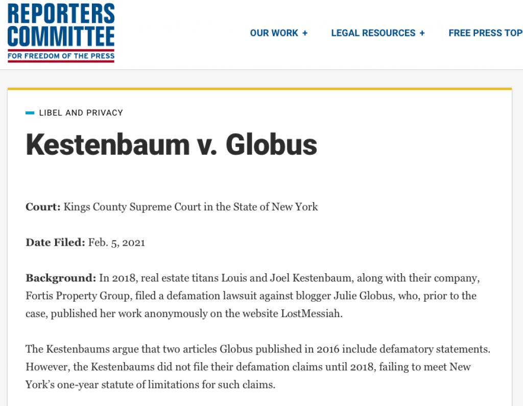 Louis Kestenbaum legal
